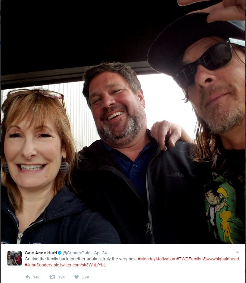 Photo Credit: Gale Anne Hurd, Twitter