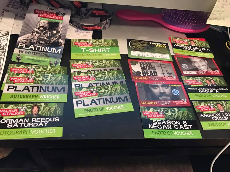 Example of a Platinum Pass, Autograph Vouchers & Photo Ops (Photo Credit: Lexi Whitlark)